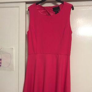 Cynthia Rowley hot pink summer knee-length dress